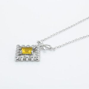 Beautiful Citrine Sterling Silver Necklace